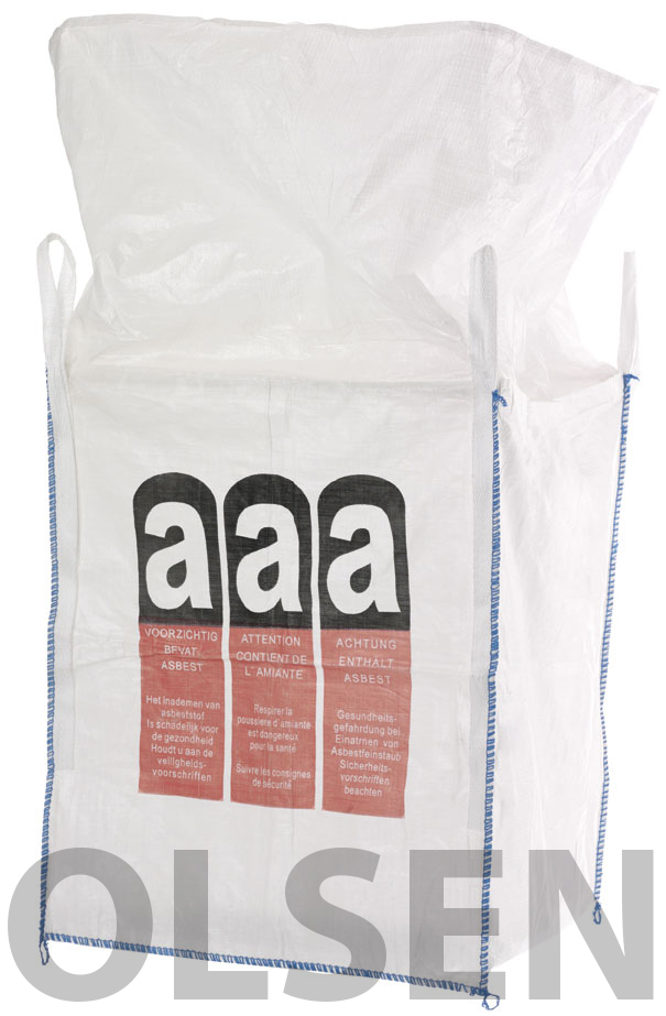 10x big bag asbest big bags 1000 kg 90x90x110cm neu ebay. Black Bedroom Furniture Sets. Home Design Ideas